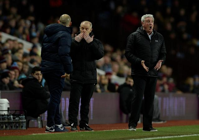 "Soccer Football - Championship - Aston Villa vs Preston North End - Villa Park, Birmingham, Britain - February 20, 2018 Aston Villa manager Steve Bruce reacts Action Images/Adam Holt EDITORIAL USE ONLY. No use with unauthorized audio, video, data, fixture lists, club/league logos or ""live"" services. Online in-match use limited to 75 images, no video emulation. No use in betting, games or single club/league/player publications. Please contact your account representative for further details."