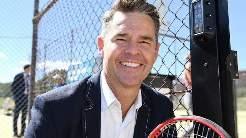Seen here, Todd Woodbridge is not a fan of the new-look Davis Cup.