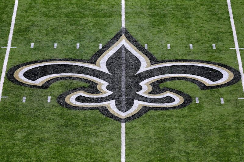 The Saints paid tribute to Carley McCord. (Photo by Jonathan Bachman/Getty Images)