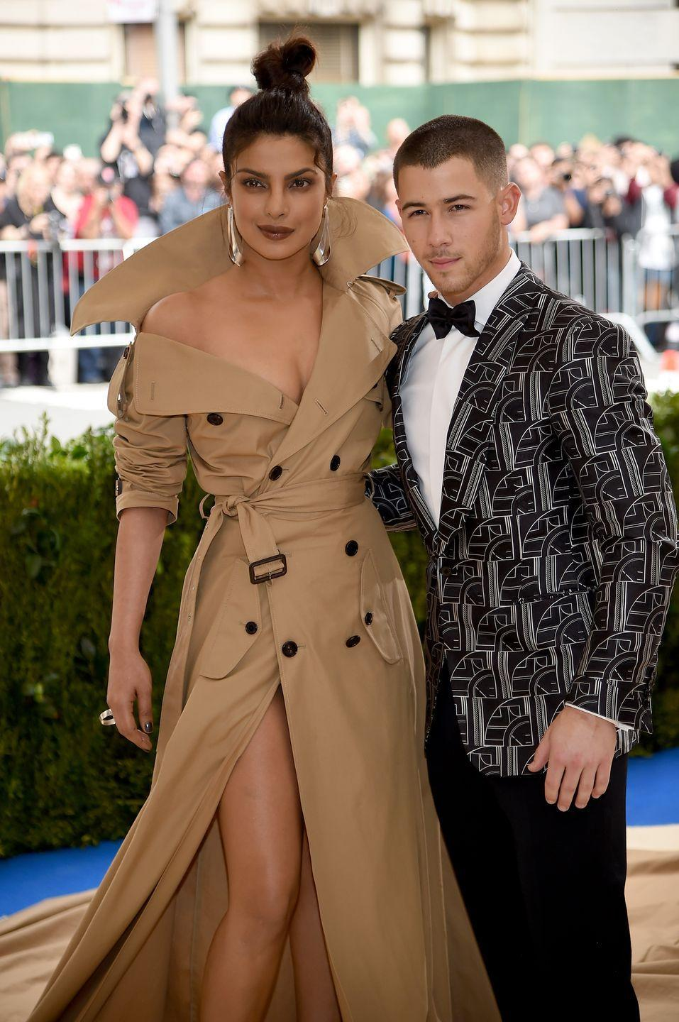 "<p>After two months of dating, Chopra and Jonas <a href=""https://www.harpersbazaar.com/celebrity/latest/a22572681/nick-jonas-priyanka-chopra-engaged/"" rel=""nofollow noopener"" target=""_blank"" data-ylk=""slk:became engaged"" class=""link rapid-noclick-resp"">became engaged</a> in July 2018. The couple then held a lavish <a href=""https://www.harpersbazaar.com/celebrity/latest/a25107771/priyanka-chopra-nick-jonas-wedding-details/"" rel=""nofollow noopener"" target=""_blank"" data-ylk=""slk:wedding"" class=""link rapid-noclick-resp"">wedding</a> in December of that year, complete with two ceremonies and multiple celebrations in India. While many fans noted their age difference, the couple couldn't care less. ""The age difference is not a big deal to them whatsoever,"" a source close to Jonas told <em><a href=""https://people.com/music/nick-jonas-loves-priyanka-chopra-older-mature/"" rel=""nofollow noopener"" target=""_blank"" data-ylk=""slk:People"" class=""link rapid-noclick-resp"">People</a></em>. In fact, Jonas reportedly is a fan of the age gap between him and Chopra. He ""loves dating older women, and if anything it makes Priyanka even more attractive to him,"" the source added. Jonas has ""always been very mature for his age"" and is ""an old soul.""</p>"