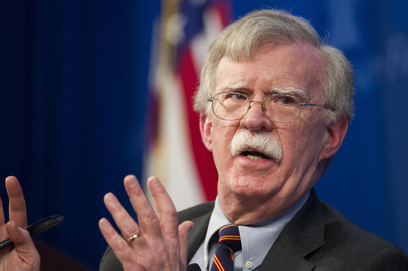 National Security Advisor John Bolton unveils the Trump Administration's Africa Strategy at the Heritage Foundation in Washington. The White House has sent Bolton on a mission to allay Israel's concerns