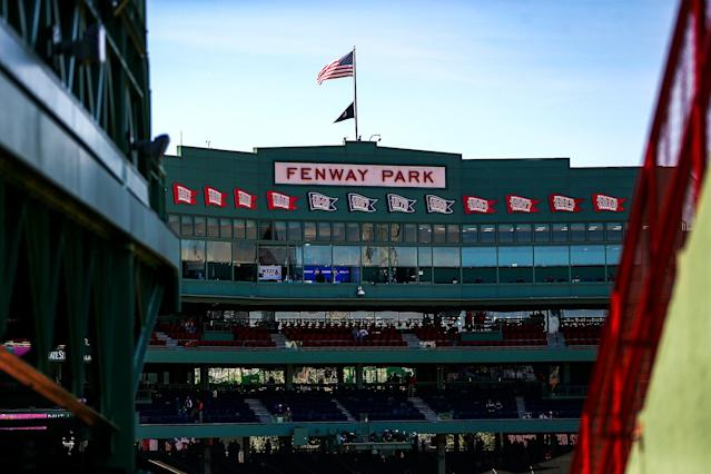 The coronavirus pandemic has delayed MLB's report on the Red Sox sign-stealing scheme. (Adam Glanzman/Getty Images)