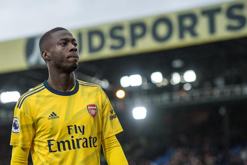 Nicolas Pépé has flashed his potential with Arsenal, but the goals and consistency haven't been there. (Photo by Sebastian Frej/MB Media/Getty Images)