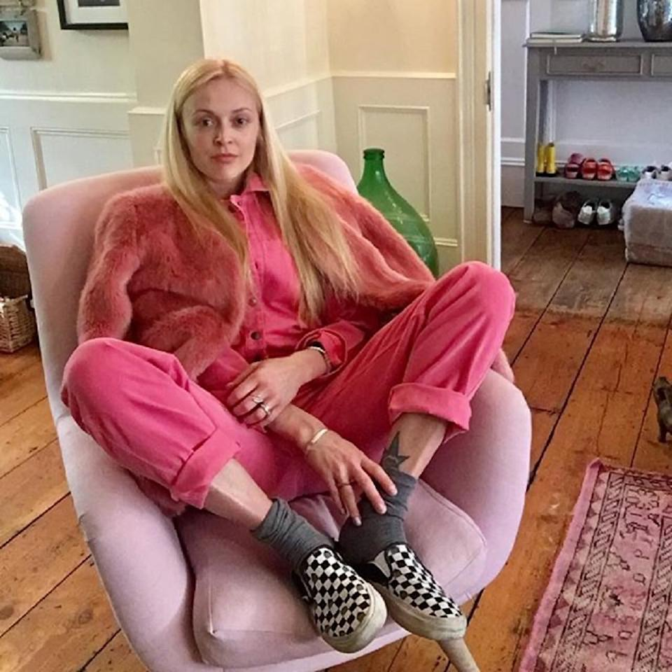 Fearne Cotton in a pink Kenzo jumpsuit donated to the Mind auction (Mind Fearne Cotton/PA)