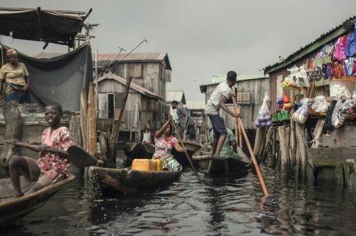 Around a quarter of a million people live in Makoko -- it is believed to be the biggest floating community in the world
