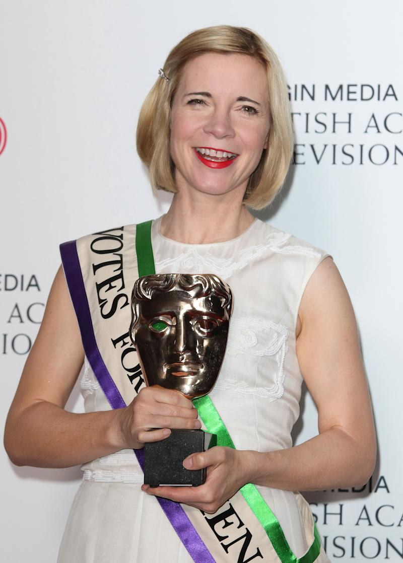 LONDON, UNITED KINGDOM - 2019/05/12: Lucy Worsley, winner of Specialist Factual seen during the Virgin Media BAFTA Television Awards 2019 - Press Room at The Royal Festival Hall. (Photo by Keith Mayhew/SOPA Images/LightRocket via Getty Images)
