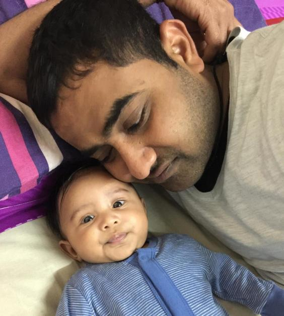 Mr Savaliya last saw his son, Avi, when he was just four months old