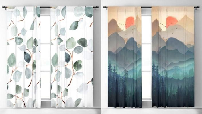 We are obsessed with our curtains from Society6.
