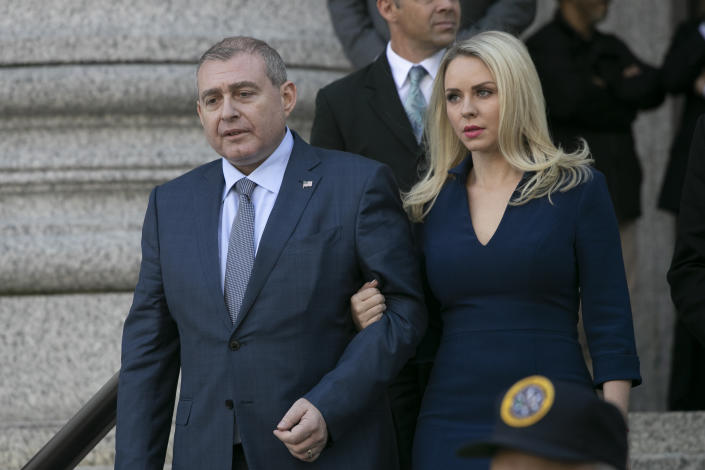 Lev Parnas leaves federal court following his arraignment on Oct. 23 in New York. (Photo: Mark Lennihan/AP)