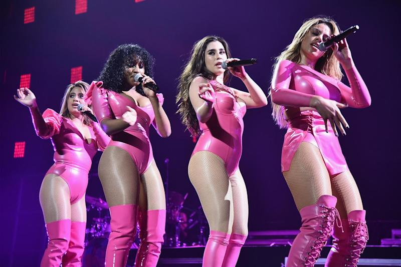 Final four: The girls on stage at TIDAL X (Theo Wargo/Getty)