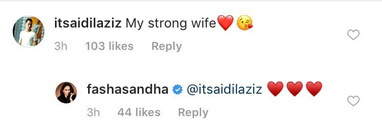 Aidil Aziz, Fasha's husband sending her some love in the comments section. — Picture via Instagram/@fashasandha