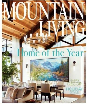 The cover of Mountain Living's 2020 Home of the Year issue. Photo credit: Roger Davies