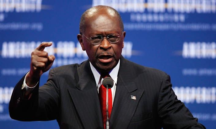 Republican presidential candidate Herman Cain: Getty Images