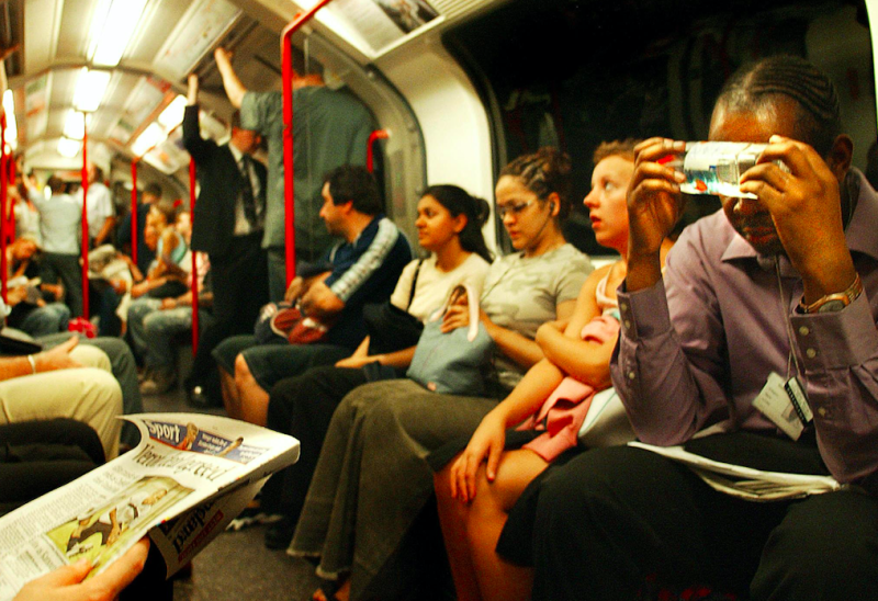 Commuters on the London Underground sweltered in the 2003 heat (Getty)