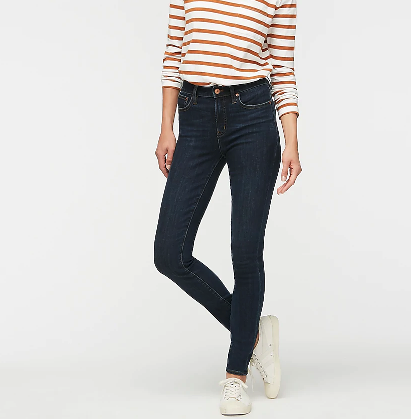 """9"""" high-rise toothpick jean in Point Lake wash"""