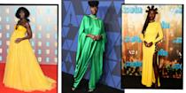 """<p>British star <a href=""""https://www.elle.com/uk/life-and-culture/culture/a36273826/jodie-turner-smith-interview-anne-boleyn/"""" rel=""""nofollow noopener"""" target=""""_blank"""" data-ylk=""""slk:Jodie Turner-Smith"""" class=""""link rapid-noclick-resp"""">Jodie Turner-Smith</a> burst onto the world stage in the mesmerising Queen & Slim back in 2020. The actor has since had a child with Joshua Jackson, starred in Anne Boleyn and served some pretty unforgettable red carpet looks. </p><p>Turner-Smith is the face of both Gucci's perfume and jewellery, and has enjoyed a long and fruitful relationship with the Italian fashion house. Gucci often dress the 34-year-old for events - most notably while eight months pregnant at the BAFTAs with a canary yellow, empire-line gown. </p><p>One for bold colours and shapes the new mother never shies away from an impactful outfit, so here are her<strong> best red carpet and street style looks</strong>...</p>"""
