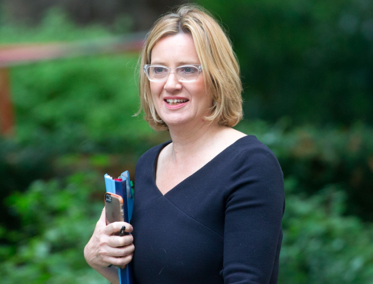 Home Secretary Amber Rudd earlier said there would be no immediate end to free movement (Rex)