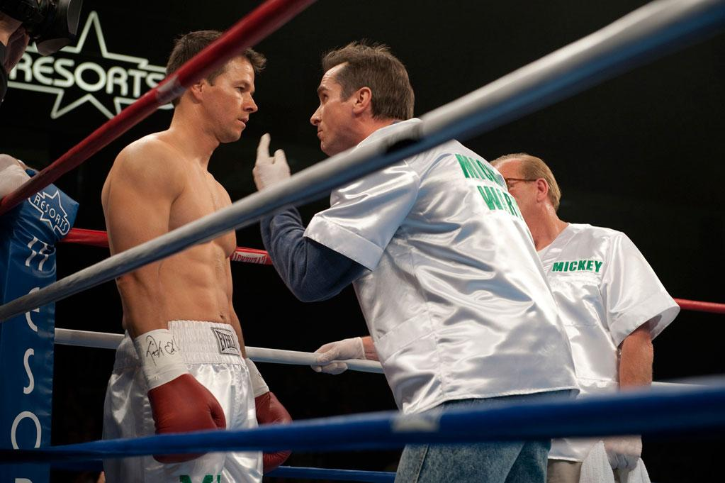 "<a href=""http://movies.yahoo.com/movie/1809368172/info"">THE FIGHTER</a>  Based on: The exploits of ""Irish"" Micky Ward   Micky Ward was a hero to Mark Wahlberg growing up in Boston in the '80s. Both grew up in large Irish-Catholic families in working class New England neighborhoods. During the course of making the movie, Wahlberg and Ward grew to be friends. At one point, Ward -- along with his troubled brother Dickie -- moved into Wahlberg's house."