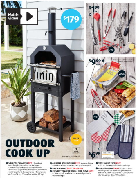 The return of Aldi's $179 woodfire pizza oven has sparked excitement among shoppers. Photo: Aldi.