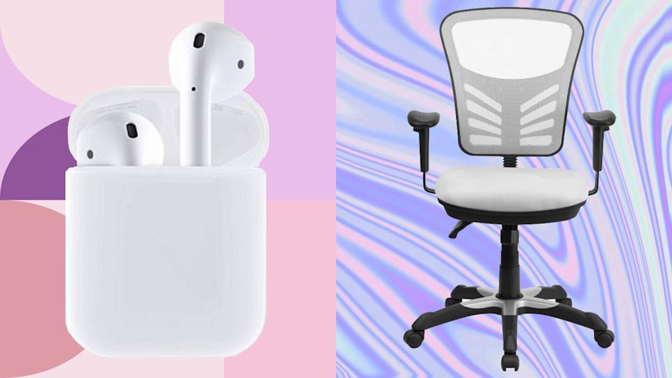 It's the best Monday of the year—Cyber Monday. Get that WFH gear in order, and set yourself up for success. (Photo: Apple/Wayfair)