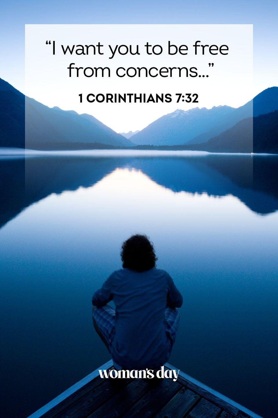 """<p>""""I want you to be free from concerns...""""</p><p><strong>The Good News:</strong> It can't be spelled out much more clearly than that. God doesn't want you to hold worry in our hearts.</p>"""