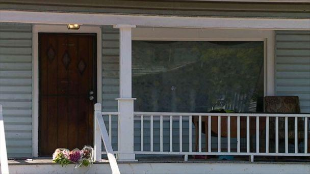 PHOTO: Flowers left on the porch of a home in Cleveland where a six-year-old girl was shot in the head and killed as she slept, Oct. 5, 2019. (WEWS)