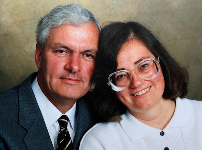 Photo of Winston Howes with his late wife, Janet Howes in 1994. (SWNS.com)
