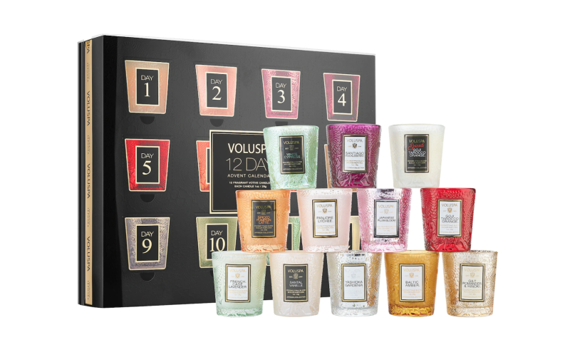 Voluspa Advent Calendar Mini Candle Set. Image via Sephora.