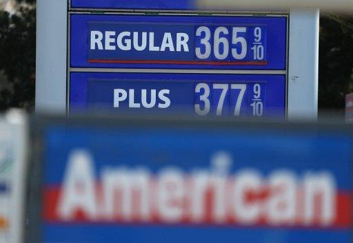 Gas prices below $4.00 per gallon are displayed at a gas station on July 12, 2012 in San Francisco, California