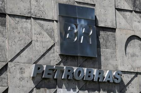 FILE PHOTO: A logo of the Brazil's state-run Petrobras oil company is seen in Rio de Janeiro