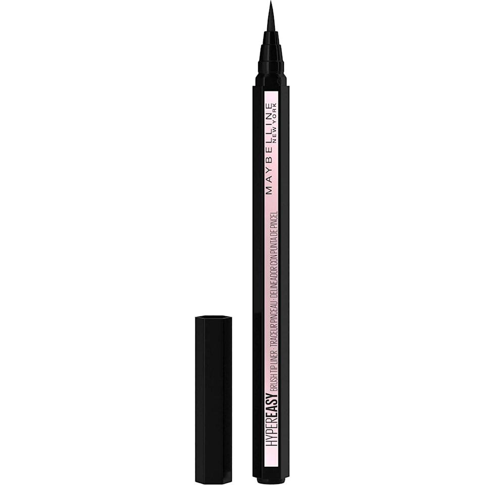 <p>Create the sharpest wing with the waterproof <span>Maybelline Hyper Easy Liquid Pen No-Skip Eyeliner, Satin Finish, Waterproof Formula</span> ($6, originally $9). It has a satin finish with a felt-tip applicator so that you can create a variety of liner looks, from a classic cat-eye to edgy graphic liner.</p>
