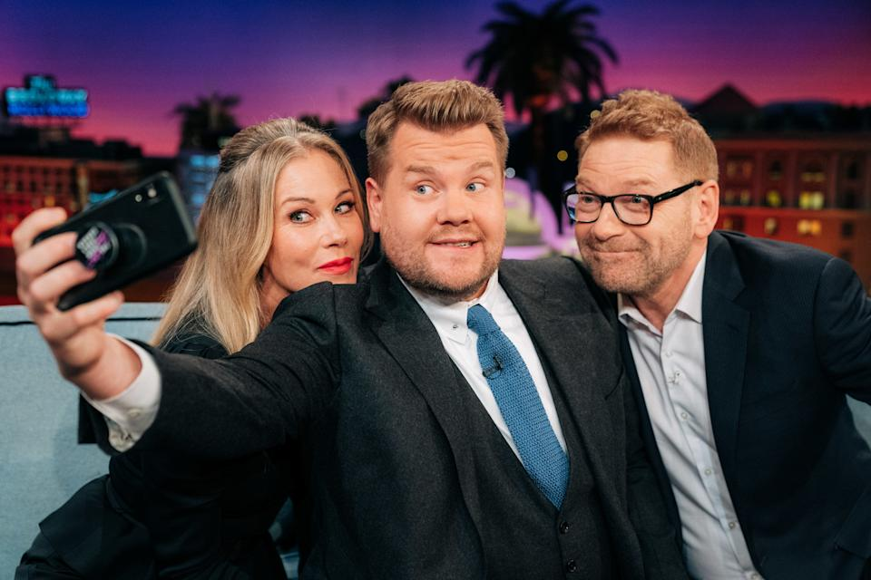 LOS ANGELES - MAY 8: The Late Late Show with James Corden airing Wednesday, May 8, 2019, with guests Christina Applegate, Kenneth Branagh, and music from Rival Sons. (Photo by Terence Patrick/CBS via Getty Images)