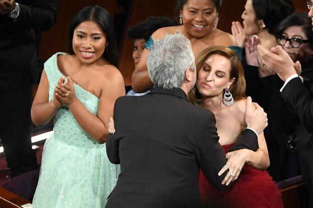Yalitza Aparicio, Marina De Tavira and Alfonso Cuarón were all nominated for their work in Roma at this year's Oscars