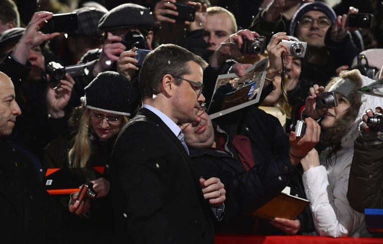 "US actor Matt Damon arrives for the premiere of the movie ""Promised Land"" competing in the 63rd Berlin Film Festival on February 8, 2013"
