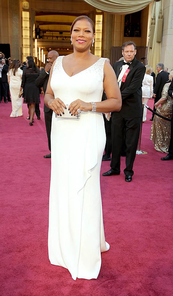 Queen Latifah arrives at the Oscars in Hollywood, California, on February 24, 2013.