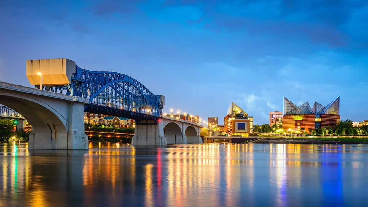 downtown skyline in Chattanooga Tennessee