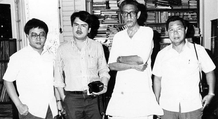 The Philippine film delegation met director Satyajit Ray ahead of the Philipine film session organised by Cine Central. (Express archive photo)