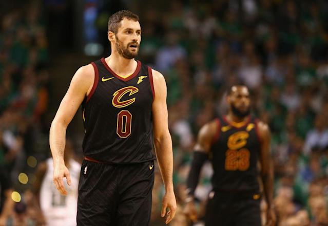 It might not be fair to expect Kevin Love to shoulder a huge burden right after coming back from a concussion, but the NBA Finals can be unfair. (Getty)