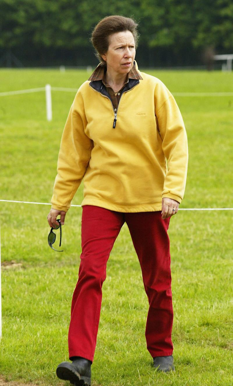 Princess Anne on the grounds of the Windsor International Horse Trials in Windsor, May 2004.