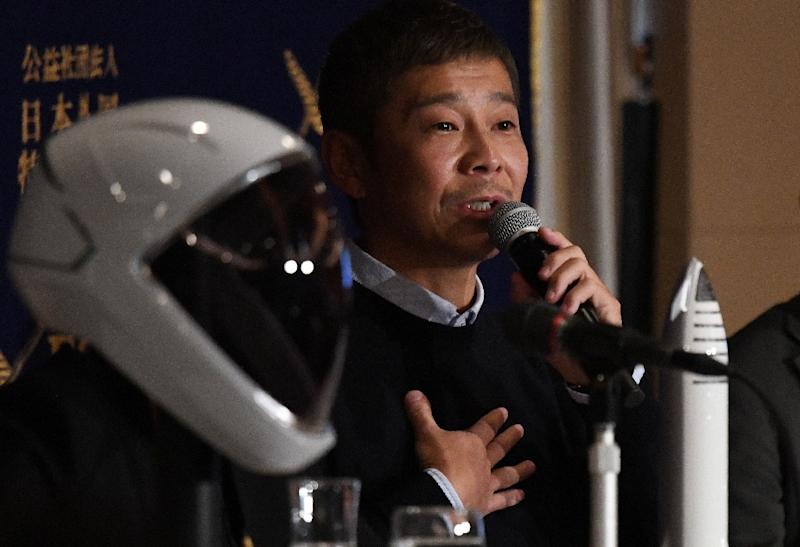 Yasaku Maezawa paid an undisclosed sum for a ticket on fellow tycoon Elon Musk's SpaceX rocket around the Moon as early as 2023 (AFP Photo/Toshifumi KITAMURA)