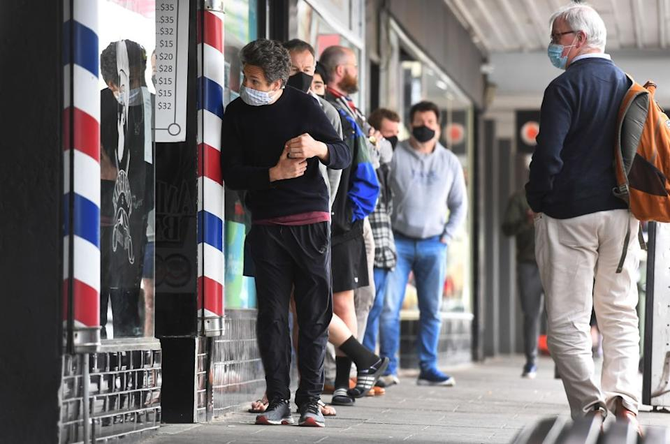 Restrictions were eased in Melbourne from Monday, with haircuts now allowed. Source: Getty