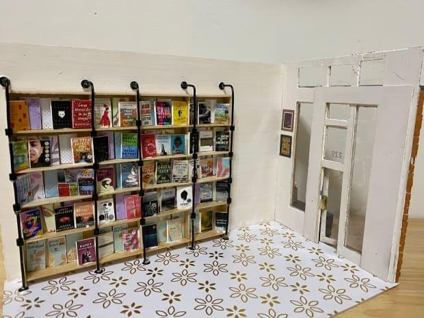 Vancouver poet Isabella Wang has recreated independent bookstore Massy Books in miniature.   (@isabellawangbc/Twitter - image credit)