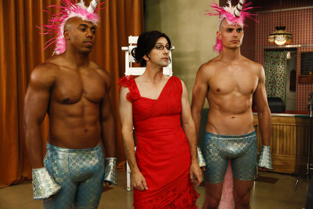 """History 101"" Episode 401 -- Pictured: Jim Rash as Dean Pelton"