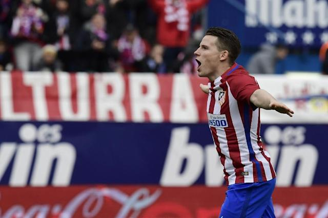 Atletico Madrid's Kevin Gameiro has missed the club's last five games due to a groin problem (AFP Photo/JAVIER SORIANO)