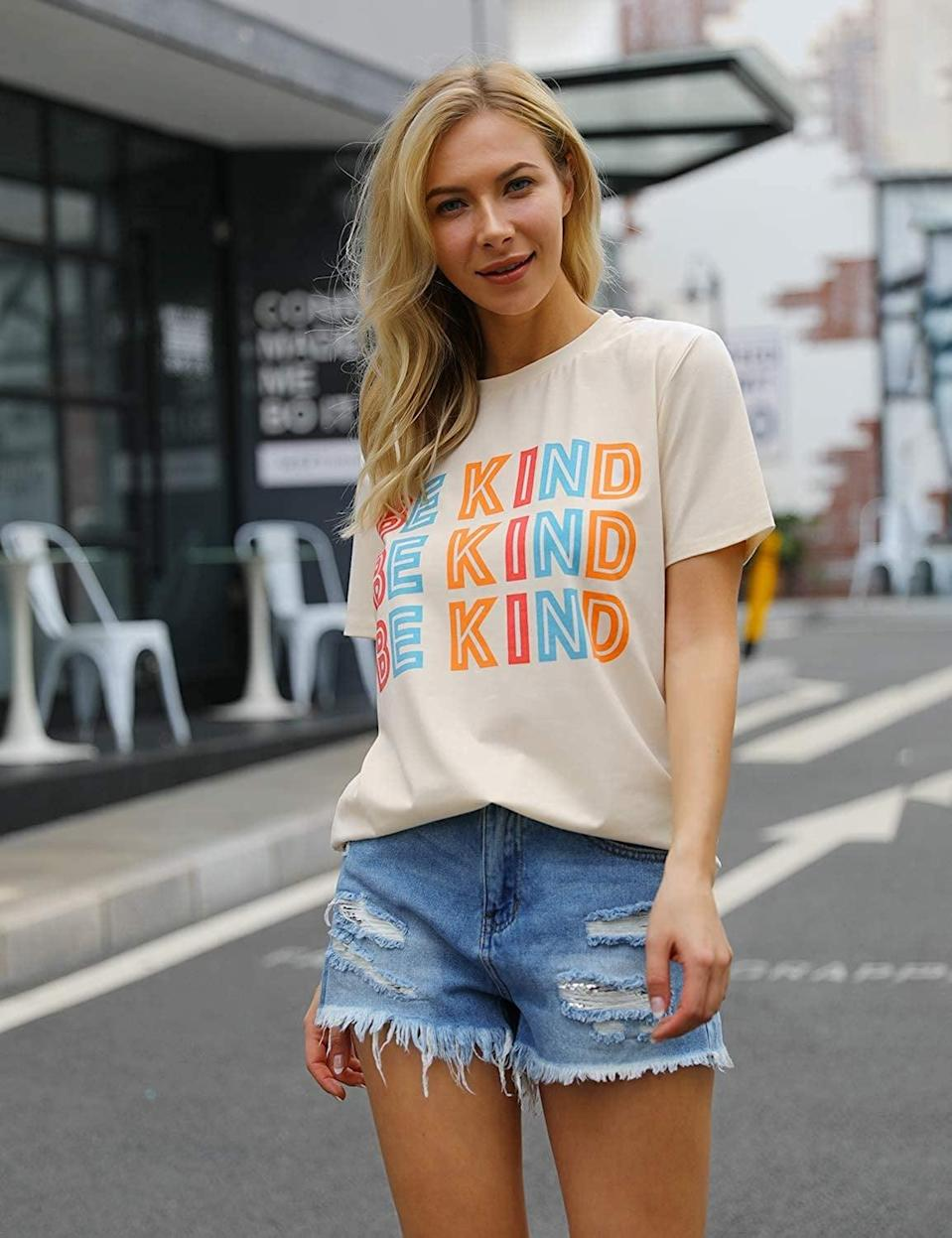 <p><span>Blooming Jelly Be Kind T-Shirt</span> ($15, originally $18)</p>