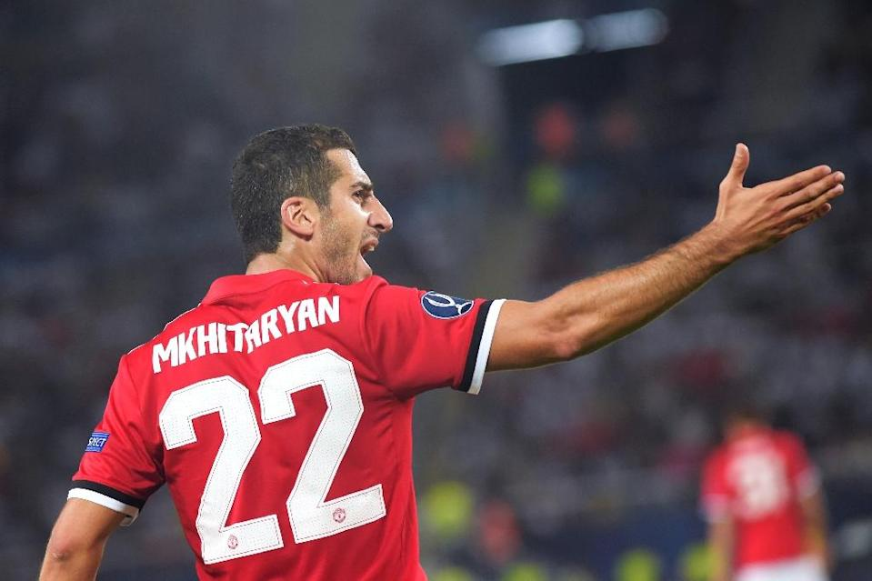 Manchester United's speedy attacking midfielder Henrikh Mkhitaryan was born in Yerevan in January 1989 when the Armenian capital was still part of the Soviet Union (AFP Photo/ARMEND NIMANI )