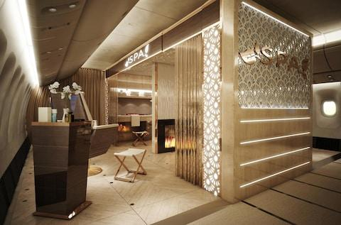 Is it a room? No it's a plane cabin - Credit: Dubai Aviation Engineering Projects
