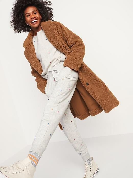 Oversized Cozy Sherpa Overcoat for Women