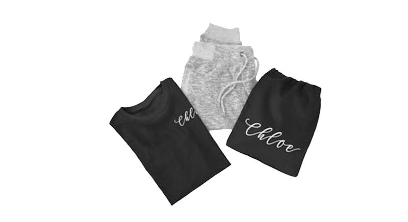 Personalised Name Lounge Pants Pyjama Gift Set