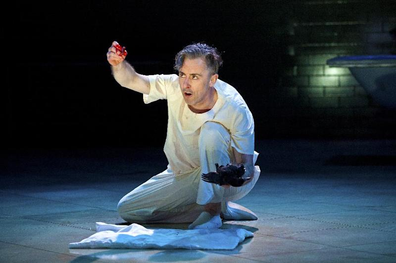 "This undated theater image released by The Publicity Office shows Alan Cumming during a performance of ""Macbeth."" (AP Photo/The Publicity Office, Jeremy Daniel)"
